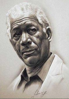 Morgan Freeman (pencil-portrait) Dunway Enterprises - http://www.learn-to-draw.org/caricatures_clb.html?hop=dunway