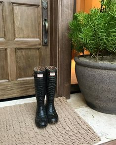 """Cindy Crawford (@cindycrawford) on Instagram: """"Leaving my rain boots at the door. And since you asked, they're @HunterBoots x @JimmyChoo from a…"""""""