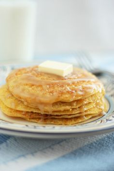 Cornbread Pancakes with Honey Butter Syrup - Cooking Classy