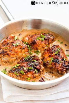 Chicken in Creamy Bacon Sauce