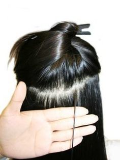 "Micro Loop Human Hair Extensions,26"" #1 Jet Black Straight Micro Loop Human Hair Extensions [MS120608] - www.hairextensionbuy.com"