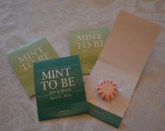 "75 Custom ""Mint To Be"" Wedding Favor Matchbooks/Mint Favor/Wedding/Mint Favor/Candy Favor/Mint Wedding Favor"