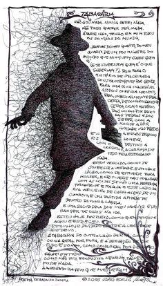 jbeja: fernando pessoa,a tabacaria,manuscrito,desenho de joão beja