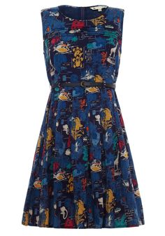 Flora and Fauna Postcard Dress