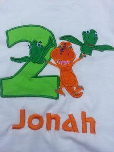 Dinosaur Train Birthday Number Shirt/ Oneise by SewPrettyNPersonal, $21.99