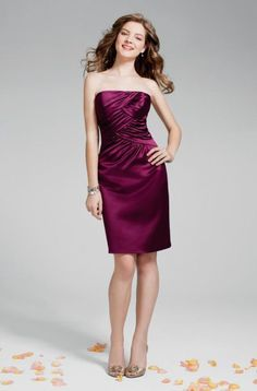 Alfred Angelo 7231 Berry Size 10 short bridesmaid dress, cocktail dress