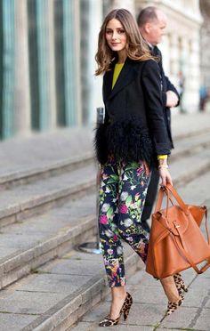 London Fashion Week Street Style featuring the stunning Olivia Palermo.