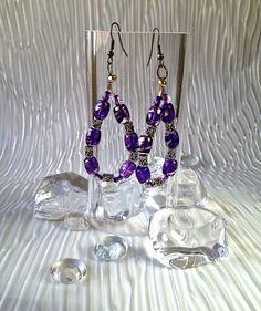 Silver & Purple Earrings $18.00 on mjcali1048@hotmail.com