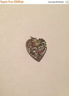 ON SALE Sterling Pearl Heart Pendant Mother Ruby Emerald Beads 925 Silver Charm Vintage Jewelry Mom Christmas Holiday Birthday Gift Love 70s by BargainBitz on Etsy https://www.etsy.com/listing/250398947/on-sale-sterling-pearl-heart-pendant