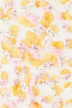 Midnight snack X 1000... funfetti-dipped potato chips!