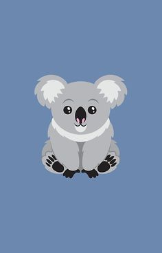 Shop Cute Animated Koala Bear Classic Round Sticker created by Personalize it with photos & text or purchase as is! Funny Iphone Wallpaper, Bear Wallpaper, Cartoon Wallpaper, We Bare Bears Wallpapers, Cute Wallpapers, Koala Illustration, Image Deco, Bear Drawing, Animal Doodles