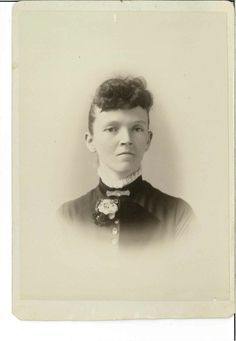 Cabinet card for Mary Lukold, presumably Muncie, Indiana, ca. 1890s