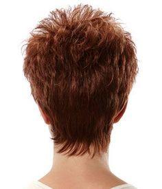 Image result for short haircut with fringe neckline