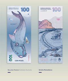 As designers e ilustradoras argentinas Gilda Martini e Gabriela Lubiano imaginaram um novo design para as notas de pesos argentinos. Elas foram inspiradas pela diversidade da flora e fauna do país. Na parte da frente animais como a lhama, e no ver...