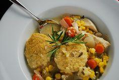 Crock Pot Chicken Stew with Cornmeal Dumplings Recipe – 6 WW Points