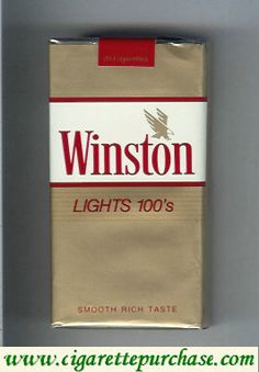 Winston with eagle from above in the right Lights cigarettes soft box. Vintage Cigarette Ads, Cigarette Brands, Cigarette Case, Vintage Metal Signs, Vintage Tools, Vintage Ads, Winston Light, Marlboro Gold, Winston Cigarettes