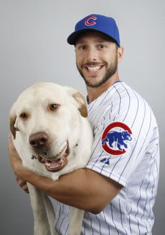 This Cubs player and his big yellow dog won MLB picture day | For The Win
