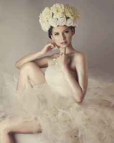 Spring styled photoshoot idea, diy tulle dress, diy flower crown