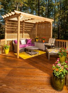 Design a garden with a pergola - 50 ideas for your summer garden design # Patio Pergola, Pergola Canopy, Pergola Shade, Pergola Kits, Pergola Ideas, Patio Ideas, Yard Ideas, Outdoor Living Rooms, Living Spaces