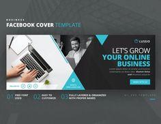 Business Facebook Cover Template AI, EPS Facebook Cover Template, Lorem Ipsum, Online Business, Names, Templates, Let It Be, Website, Stencils, Vorlage