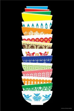 Vintage Pyrex Poster-I want this in my house {specifically for my kitchen}