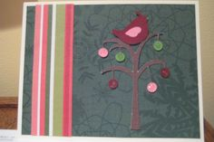 """This is a Christmas card that I made using the Cricut Cartridge """"Winter Frolic""""."""