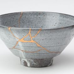 kintsugi~the Japanese art of repairing that which is broken with gold  (As Leonard Cohen would say, that's how the light gets in . . . )