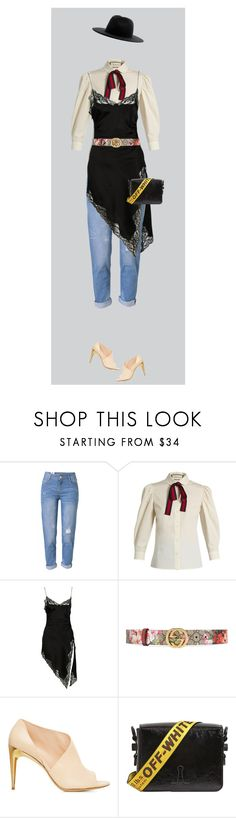 """Lazy look"" by krisz-kn ❤ liked on Polyvore featuring WithChic, Gucci, Alexander Wang, Off-White and Études"