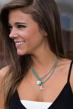 """""""Crest Assured Necklace, Turquoise"""""""