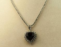 Deep Red Vintage Faceted Rhinestone Heart by DianaKirkpatrickArt, $25.00