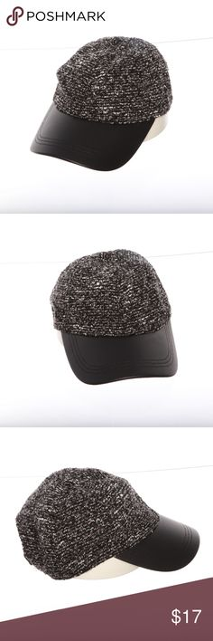 c9901514bef August Hat Company Boucle Faux Leather Cap August Hat Company Boucle Faux  Leather Cap
