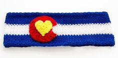 Blue Colorado State Flag Headband / Ear Warmer in by JAVsDesigns