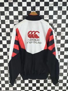 CANTERBURY All Blacks Jacket Xlarge Steinlager Jonah Lomu Canterbury Rugby Football Training Jacket CCC Multicolor New Zealand Size XL by JunkDeluxeRetro on Etsy