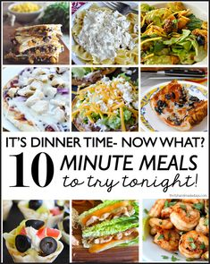 It's Dinnertime - now what!?  10 minute meals to try out tonight!  | Thirty Handmade Days