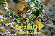 We can't help ourselves! April Showers … Time to tidy the Garden and we have just the Accessories @ ARTwithDOG.com    #Garden #Flower #Bloom #April #May #rain #Showers #Spring #Sun #Flowers #Gardening #Daisies #LadyBug #Cute #Scarf #outdoors #Summer #chic