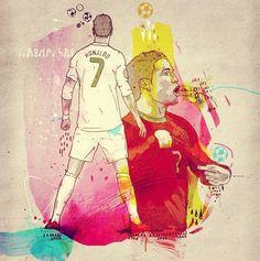 #CristianoRonaldo by: Inkquisitive Illustration