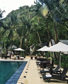 Lagen Island Resort is a remote private-island hotel on a lush rocky island off Palawan.