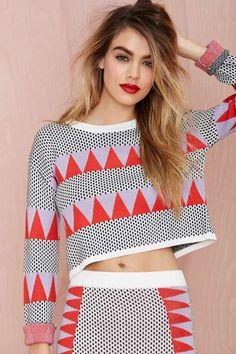 Tri Tri Again Crop Sweater | Shop What's New at Nasty Gal