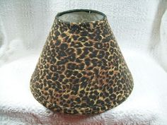 Leopard shade lamp from midnight velvet with waterfalls of faceted leopard print lamp shade now that is something you dont see everyday aloadofball Image collections
