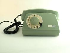 vintage green rotary telephone by ArtmaVintage on Etsy. $62.00, via Etsy.