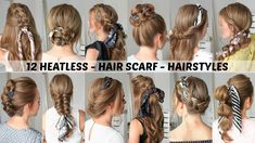 12 Hair Scarf Hairstyles | Back to School | Missy Sue