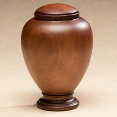 Grove Wood Cremation Urn in Radiata - Urns Northwest. Elegant vase urn shape, made by hand in artisan woodshop in Spain.