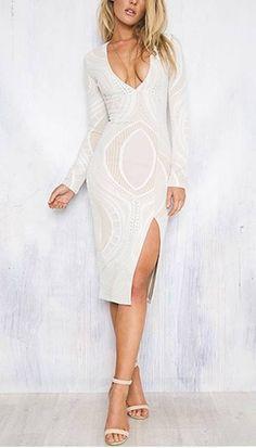 Vestido Midi com Fenda - Compre Online | DMS Boutique