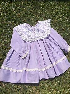 Beautiful Vintage Style Baby Doll Dress 12months Purple | eBay