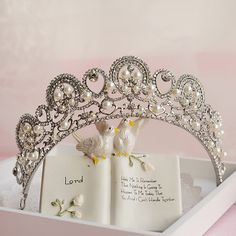 pearl rhinestone vintage elegant tiara bridal hair jewelry wedding crown hair accessories wholesale red white