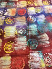 Hand Stamped Batik Fabric Hand Stamped, Accent Decor, Craft Projects, Quilts, Big, Fabric, How To Make, Handmade, Crafts