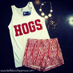I have this shirt, now I need these shorts. HOGS