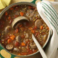 Lentil & Chicken Sausage Stew Recipe