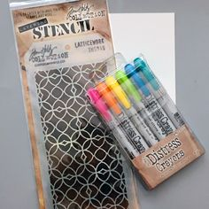 Found it at Blitsy - How to Make a Gorgeous Distress Crayon Stenciled Background