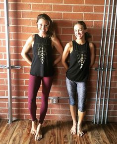 How fabulous do these two look in our Live By The Sun Love By The Moon Expressive Tanks?!?❤#happymonday #twinning #yogaeverydamnday #yogini #yogagirl #expressive #tank #pilates #glyder #yogagirl #ootd #instafit #fitnessfashion #fitgirl #fitmom #yogis #yogaapparel #wildatheart #glyderapparel #worksweatplay #namaste